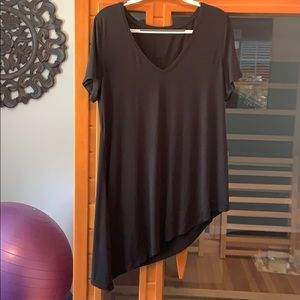 Lululemon black asymmetrical tie top sz 8